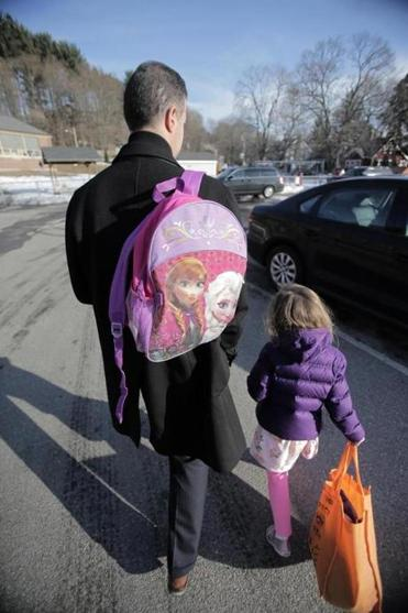 Jason Manekas picked up his daughter from day care one recent afternoon.